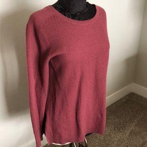 Athleta thermal sweater berry M